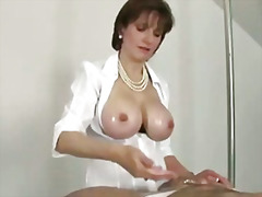 Domina does titfucking...