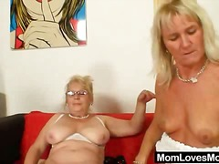 Well-endowed grandma p... video