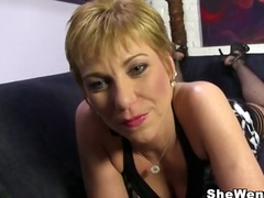 Old mature cougar gemma more gets rough fucked by a big black cock