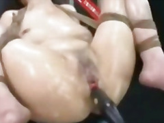 H2porn Movie:Asian tied oiled and toyed bds...