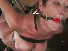 Felony is made to squirt from a vibrator