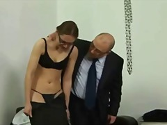 Thumb: Young secretary gets s...