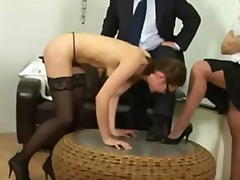 Young secretary gets spank... - 06:06