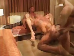 Hot interracial group sex