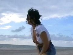 pornstar, crystel lei, public, beach, leila, wet, naughty, jeans, babe, english, flashing, blonde