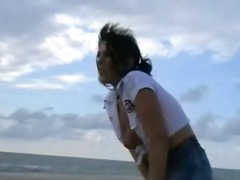 Sands gal pissing inside public and horny jeans flashing by erotic english blonde porn star crystel lei