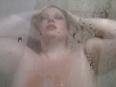 Ms dawn perignon showering her giant ...