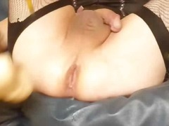 Cute blonde cd fucking... video