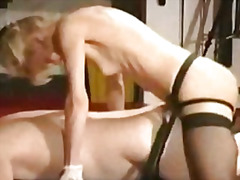 stockings, milf, smalltit, fetish, blonde, handjob