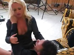 Backstage of horny sucking diva black widow