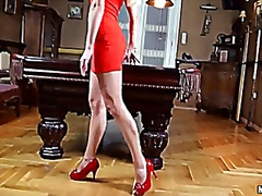 Lady in Red is Spreadi... - Vporn