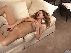 Hot chick using a dild... video