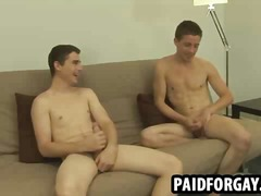 Straight hunk getting pounded anally for some cash
