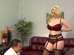 Elegant blonde slut si... video