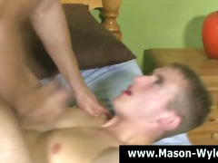 Muscle hunk ass fuck facial