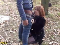 Pick uped appetizing girl with big na...