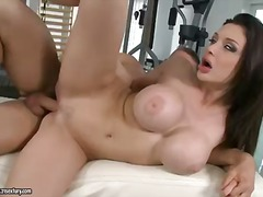 Big tit brunette aletta ocean gets nailed