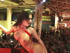 Franceska jaimes dancing striptease and pleasing her client
