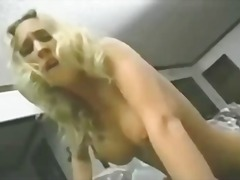 Blonde really loves riding the sybian