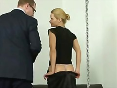 Sexy blonde lady getti... preview