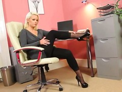 Exclusive blonde beauty in... - 05:40