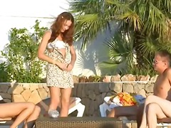 threesome, group, babe, outdoor
