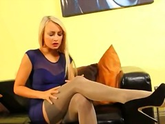 DrTuber Movie:Fairhair in incredible nylon p...