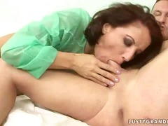 Ah-Me Movie:Grandma gets fucked hard by he...