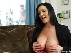 Big tit cougar sammy brooks titfucks peeping tom
