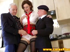 stockings, mature, threesome,