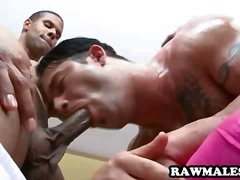 gay, tattoo, interracial, dp, anal,