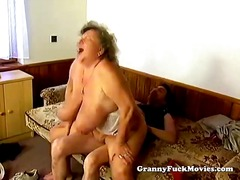 Huge grandma pounding ... video