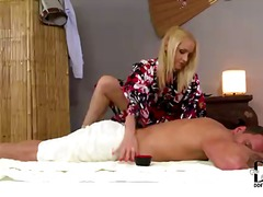 Beautiful leggy blonde... video