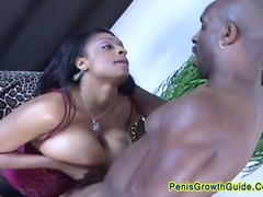 Fat chick nailed by a big black dick
