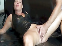 latex, vagina, fetish, gaping, mature
