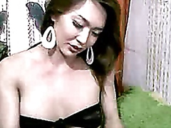 Thumb: Asian Tranny plays wit...