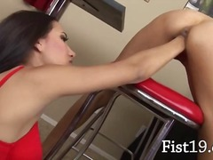 fisting, fetish, watching, brunette