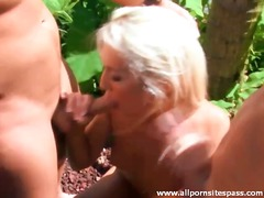 threesome, outdoors