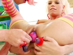 Candy in her both ench... video