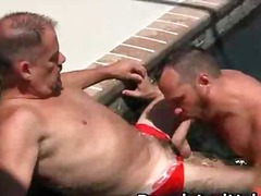 Gay sex by the pool with chris michaels & ...