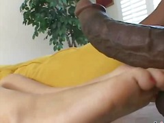 interracial, foot, tits, blonde