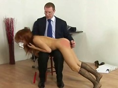 Bad college girl spanked video