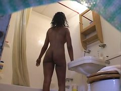 spy, ebony, bathroom, girls, candid