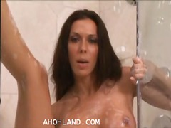 babe, tits, shower,