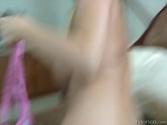 Hot bodied blonde caro... video