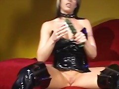 black, latex, tease, toys, anal, busty, solo, assfuck, big boobs, posing, fingering, dildo, boobs, masturbation, ass, hair, brunette, toy, tits