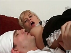 french, cumshot, blonde, blowjob