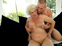 Blonde granny with ext... video