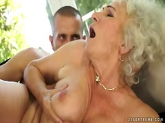 Blonde granny with ext...