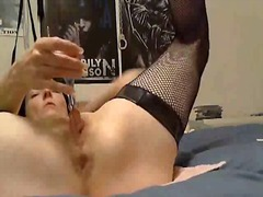 pussy, wax, fishnet, clamps, tits
